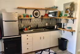 Kitchenette in #6 Crestone Inn - One Bedroom Suite