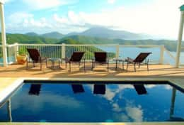 Villa Tiffany - view across pool to British Virgin Islands