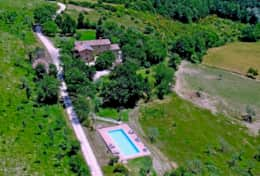 Agriturismo Gubbio from the air