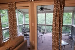 Large Screened Porch- Just off Living Room