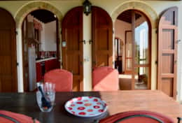 Villa Montone, covered terrace near the kitchen