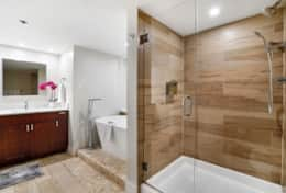 Master bathroom, separate tub and shower