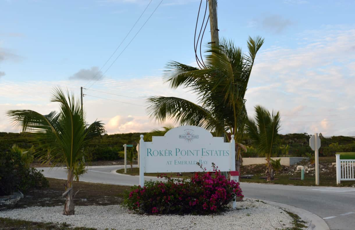 Entrance to Roker Point Estates – Exuma