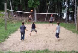 Enjoy a game of volleyball!