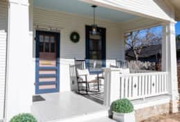 Welcoming Front Porch with Rockers