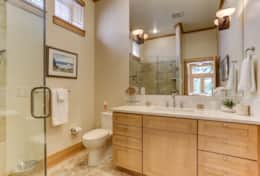 The Downstairs Master Bathroom