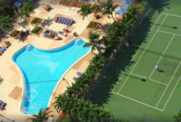 Aerial view of Swimming Pool & Tennis courts