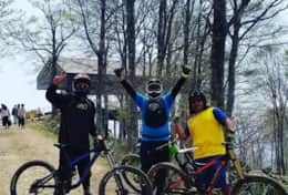 MTB at Iwatake with a couple local legends.
