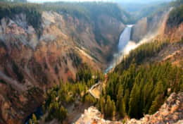 Yellowstone Falls and Canyon in the Park