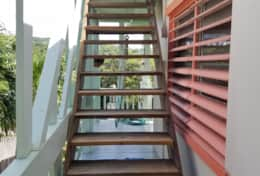 Stairs to roof deck