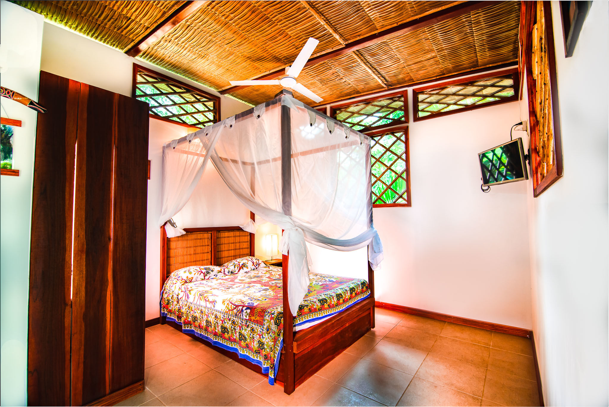 Uva Blue Jungle #6 - Bedroom in vacation villa with garden view at Caribbean coast