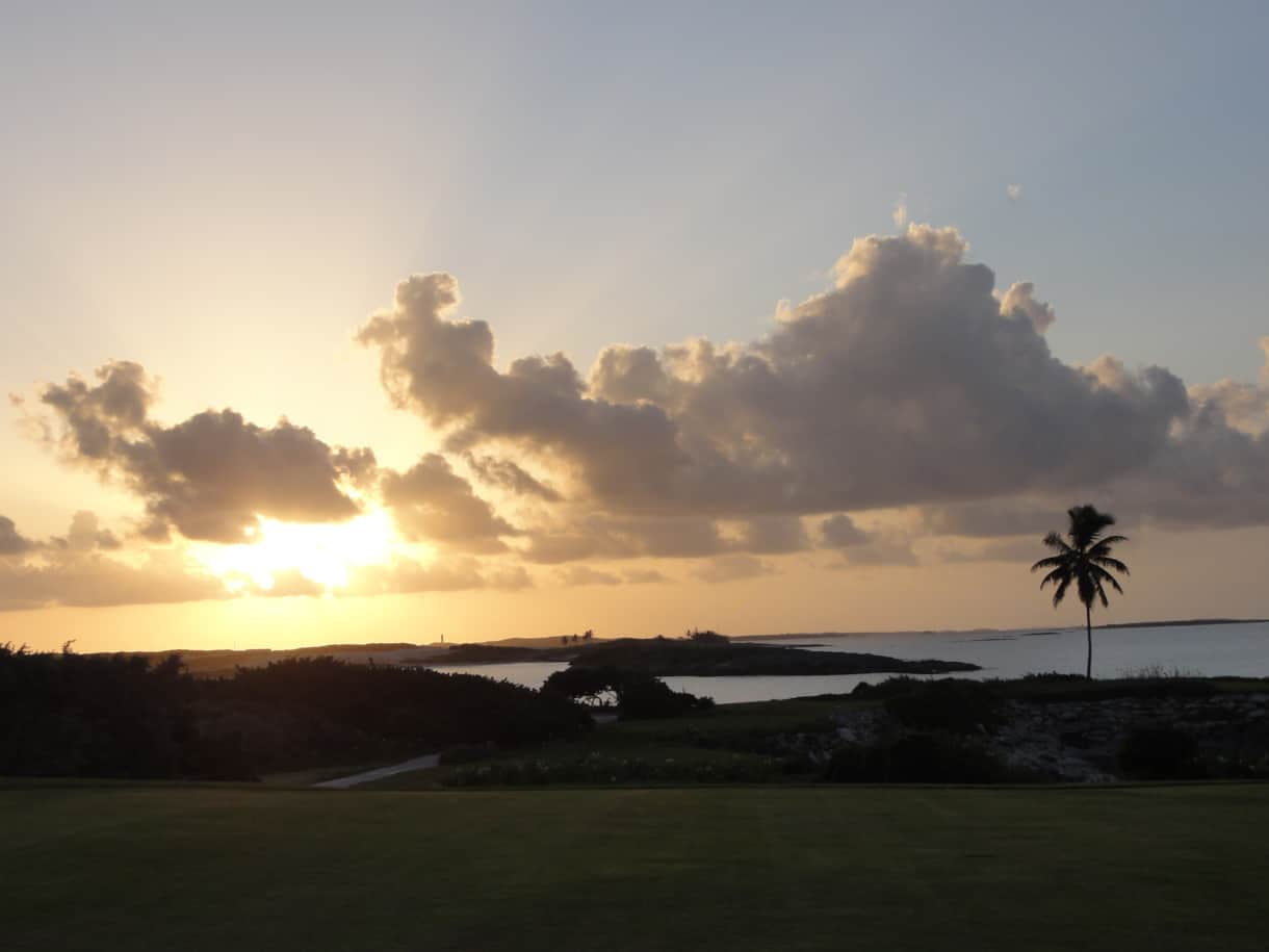 Sandals Emerald Bay Golf Course at Sunset