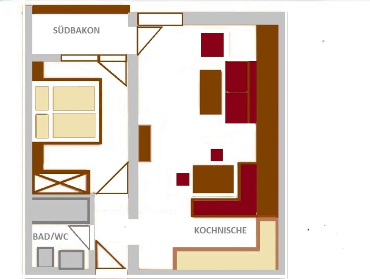 Appartements Vilsalp TAN 2 süd PLUS Grundriss AP Nr. 9