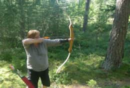 K61 Harper Cottage – SWESCOT can arrange for archery lessons in the forest