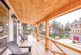 Sit back and relax on one of two levels of wrap around decks with ocean view!