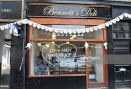 Bennetts Deli - coffees, freshly-made sandwiches and Bennett's famous pies, heated for you.