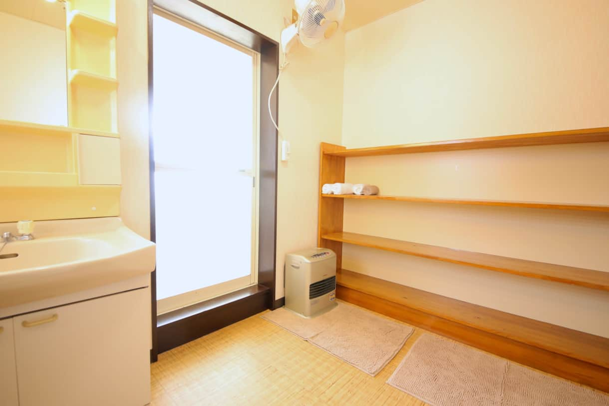 Our 2 shared bathrooms have large changing rooms, with vanity units and hairdryers