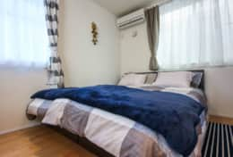 Main Bedroom- King Sided Bed | Koenji House| best family stays in Tokyo | Tokyo Family Stays|