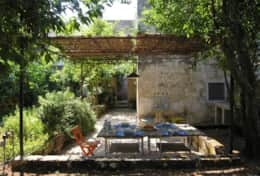 Pulcinella - furnished and shaded outdoor dining area - Castiglione d'Otranto - Salento