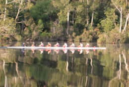 Rowing the Huon River