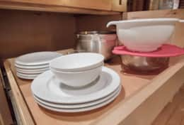 basic table settings and bowls for mixing special meal