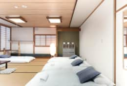 Nozawa Peaks family room, sleeps up to 5 guests