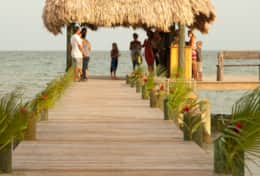 Recent Wedding under Palapa on Dock