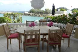 Curacao Ocean Resort Blue Lagoon - outside dining with a spectacular view