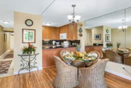 Dining area is close to the kitchen makes meal/snack service easy!