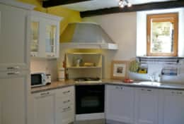 ... large fridge / freezer, gas stove and electric oven