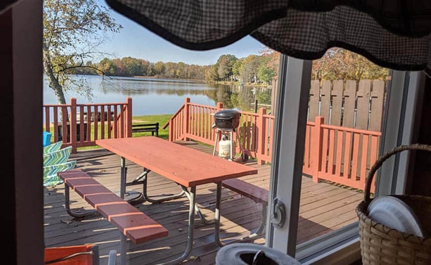 Golf Cottage view from kitchen