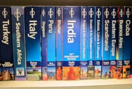 Aston Road Villas collection of Lonely Planet guides from our many travels