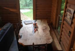 Waynesville Smokies Overlook Lodge Cabin - Custom live wood dinner table