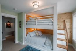 Lower level bunk room is perfect for the family.