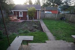 garden and back porch
