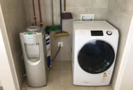 Water cooler and washer/dryer combo