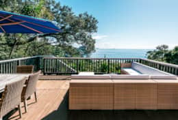 Outside deck with Sea View