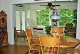 Dining Area View of Sunroom
