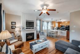 Gorgeously appointed 3BR beach home at corner of lovely Olivia Beach Community Park. Sleeps 8.