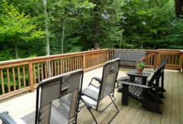 Deck with comfortable seating