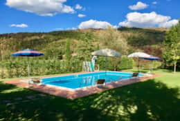 Swimming pool at Agriturismo Niccone