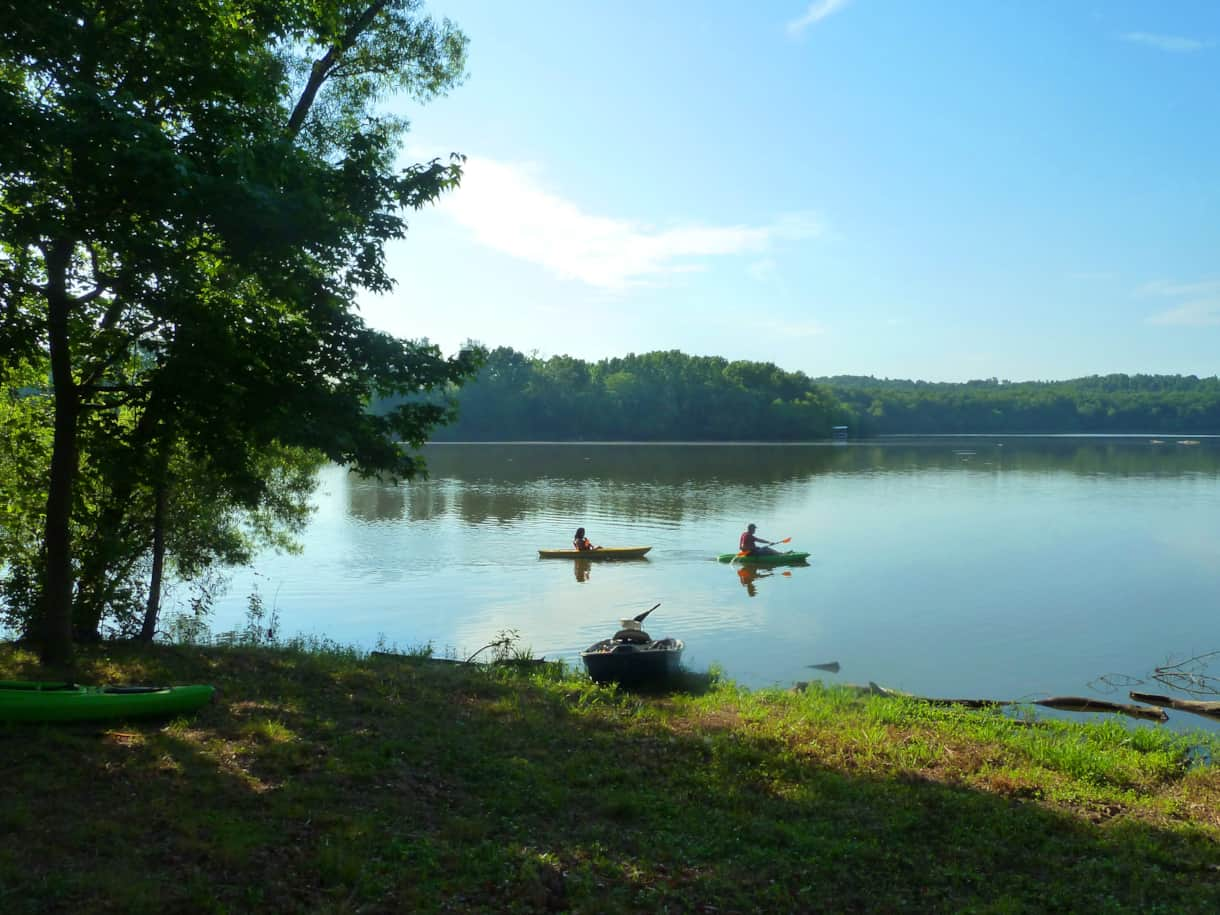 Explore the lake in a kayak!