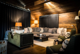 Chalet Strahlhorn Ultimate Saas-Fee Luxury Catered Chalet Living Room Sofa