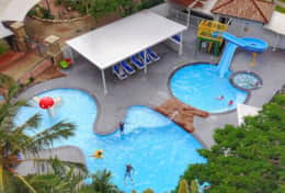 Lagoon Pool with Slippery Slide