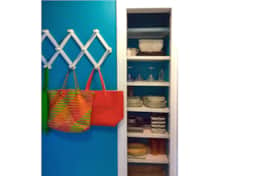 Plenty of kitchen supplies in the pantry and beach bags for daily outings