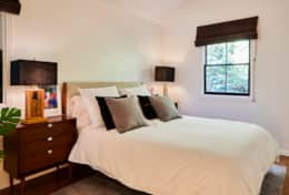 Guest bedroom in the Main House boasts a queen size bed with Leesa Mattress