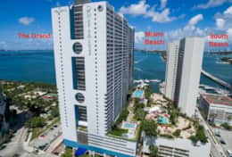 The Grand located on Biscayne Bay, Sea Isles Marina, South Miami Beach 3 miles away