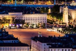 Place Bellecour - famous square in Lyon