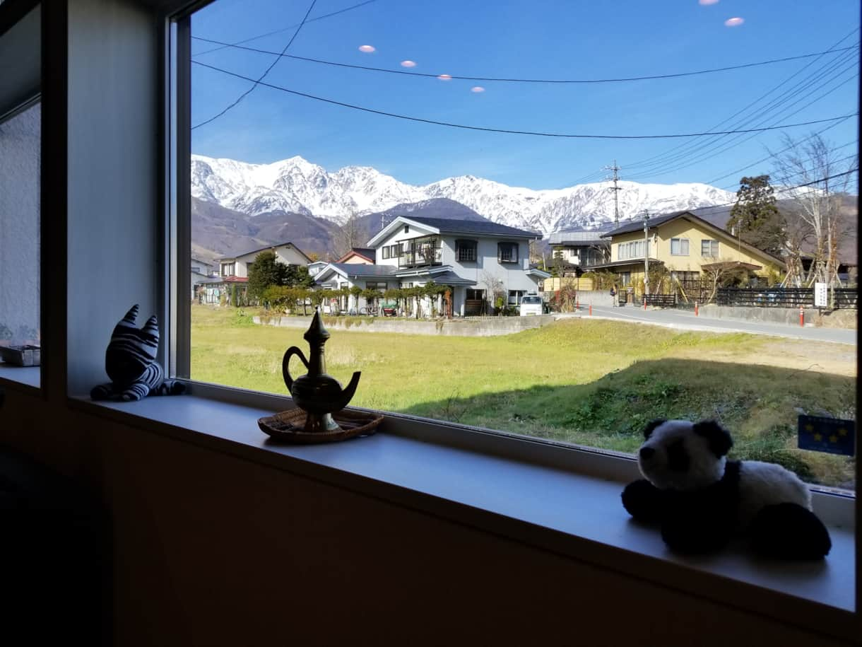 Great Alps views from the Living Area.