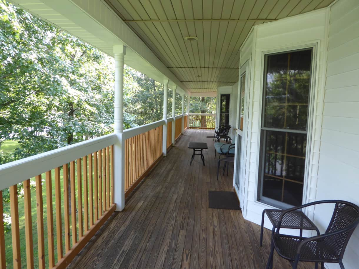 South side of deck